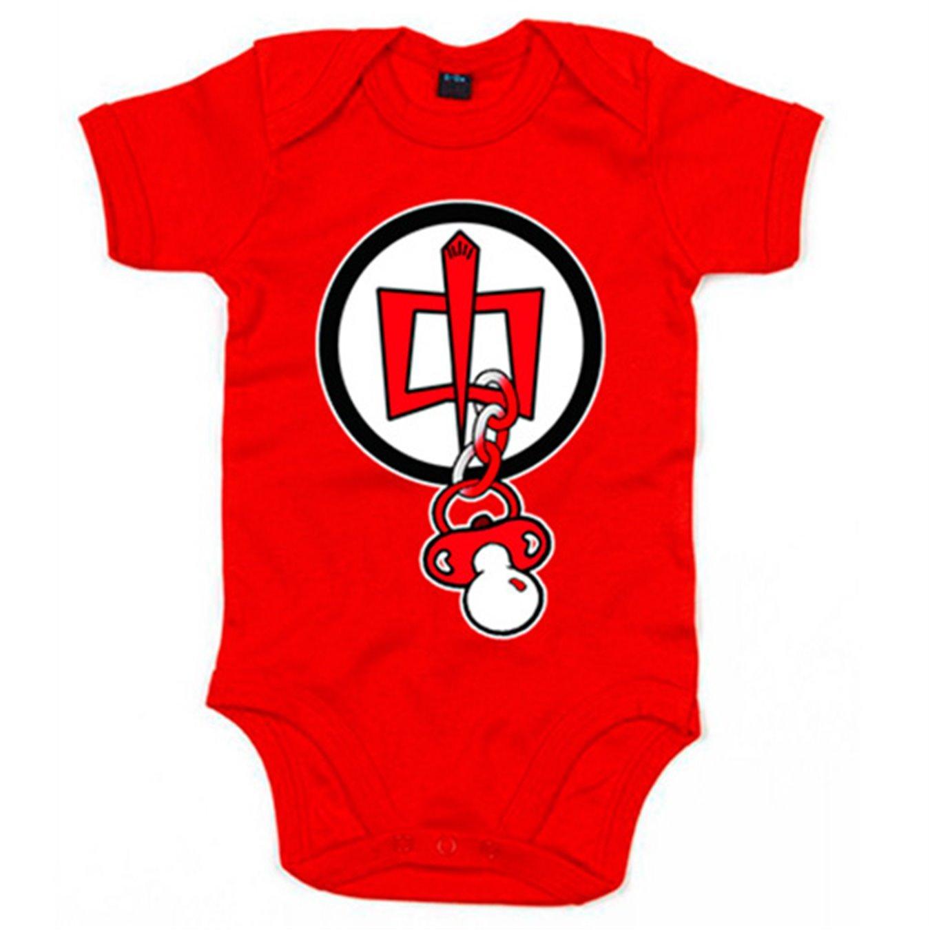Body bebé Superhéroe Americano logo bebé chupete - Rojo, 6 ...