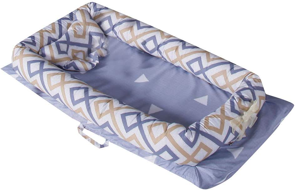Simulating Mothers Uterus Environment Bed Travel Bed Crib Bed W Baby Portable Nest Newborn Folding Bed Colourful Cute Removable and Washable Baby Nest