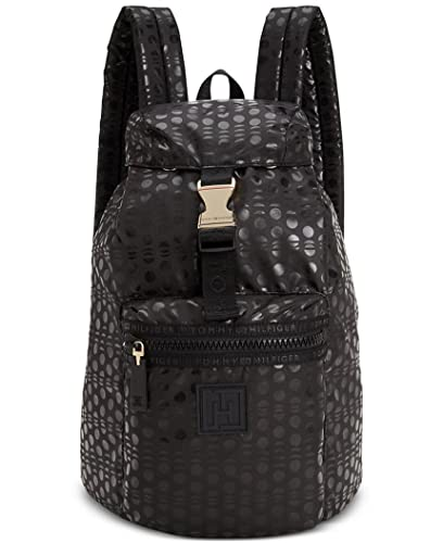 765b583c943 Amazon.com | Tommy Hilfiger Nylon Backpack (Black/ Dots) | Casual ...