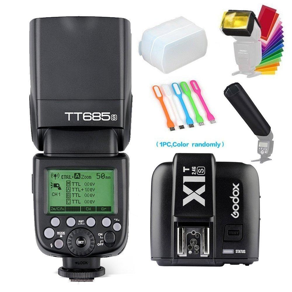 Godox Thinklite tt685s TTL High速度1 / 8000s gn60カメラフラッシュスピードライト+ x1sワイヤレストリガーfor Sony DSLRカメラ+ Huihuang USB LED無料ギフト   B01DVQDBKA