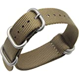18-24mm kaki high-end di lusso in stile NATO nylon balistico sostituzione cinturino cinturino intrecciato per gli uomini
