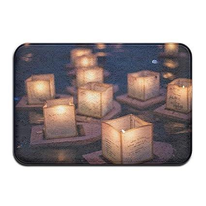 3967a280a Amazon.com: Door Mat Oceans Candles Non-Slip Stain Fade Resistant ...