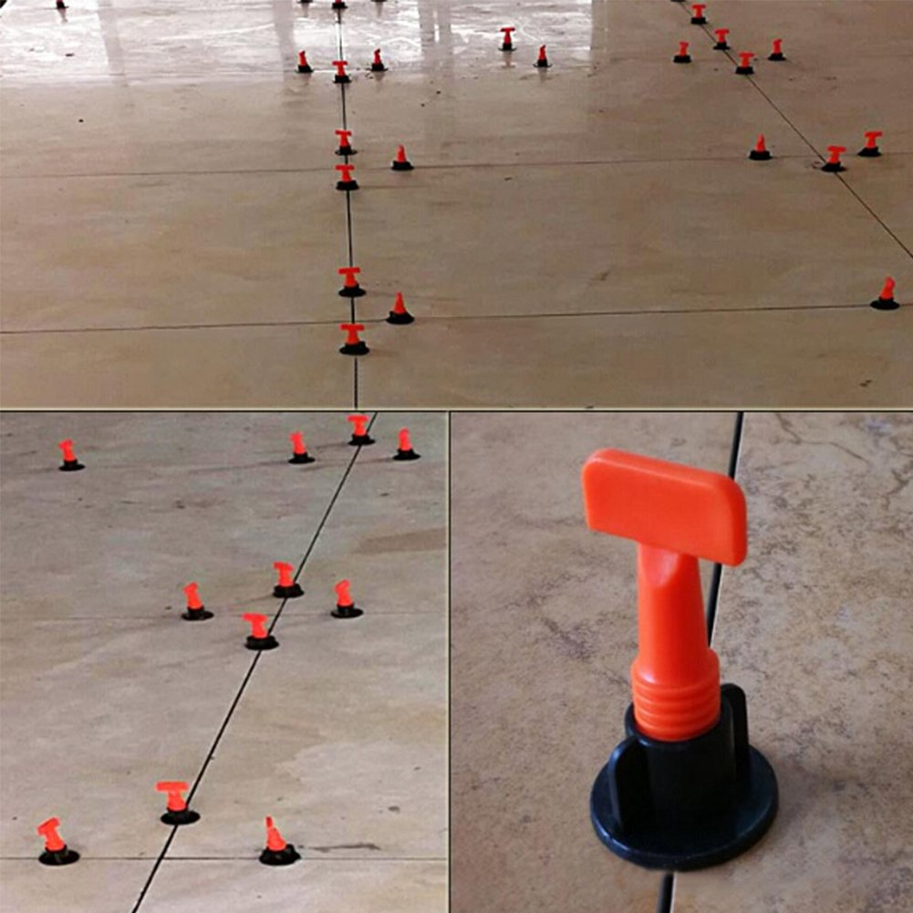 ETbotu Flooring Wall Tile Leveling System Leveler Plastic Clip Locator Spacers Plier
