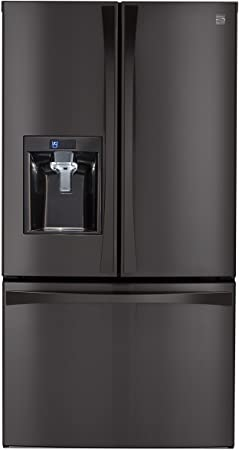 kenmore black refrigerator. kenmore elite 73157 28.7 cu. ft. french door bottom freezer refrigerator in black stainless