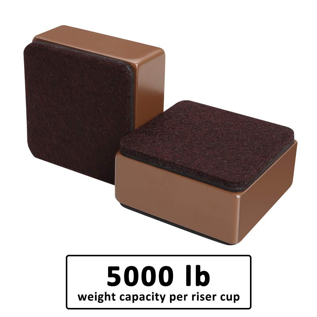 3 cm de ancho sof/ás y armarios Elevador de muebles de acero al carbono color marr/ón 3 cm de altura para camas autoadhesivo