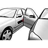 Xcellent Global DIY Car Door Dent Protector Removable Magnetic Car Door Guard Strip 2 Meter - Black M-AT007