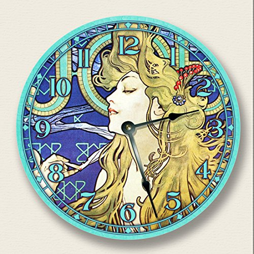 LADY TEAL Wall Clock Nouveau product image