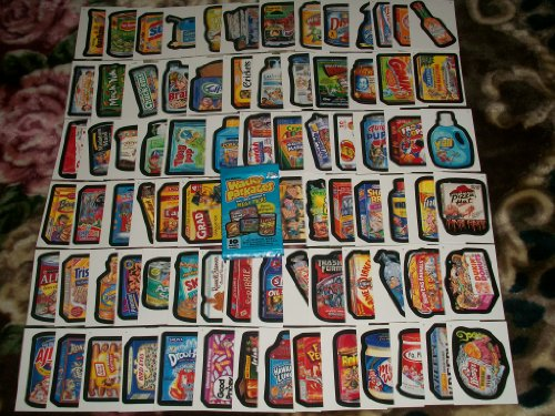 (Wacky Packages Series6 Complete SET 80/80 Stickers w/ Wrapper!!)