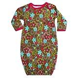 Zutano Baby-Girls Newborn Sugar Bramble Gown, Chocolate, 3 Months