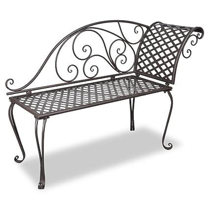 Fine Amazon Com Daonanba Elegant Garden Bench Metal Garden Bralicious Painted Fabric Chair Ideas Braliciousco