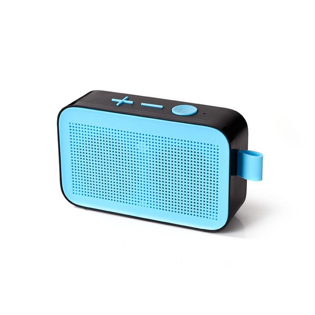 Lotus.flower Portable Wireless V3.1 Speakers, Surround Sound Stereo Soundbox Personalized Wireless Super Bass Speaker Hi-Fi Sound System For Smartphone Tablet Laptop FM (Blue)