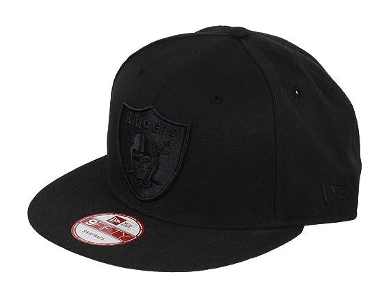 dobra jakość informacje dla lepszy New Era NFL Oakland Raiders Black On Black Snapback Cap ...