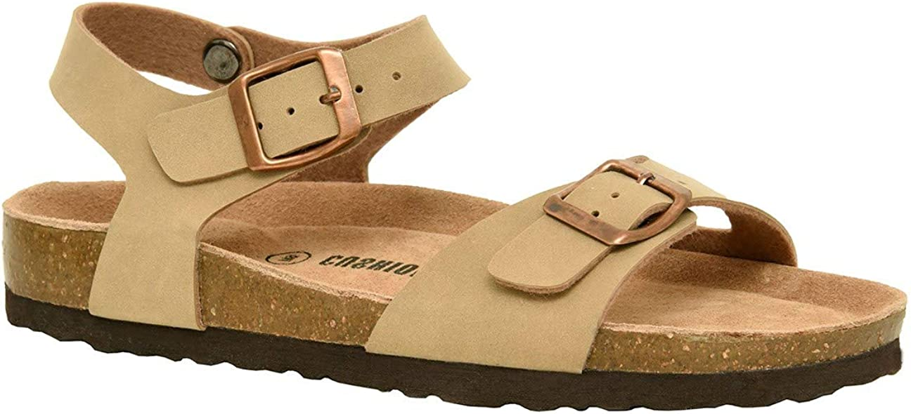 Comfort CUSHIONAIRE Womens Lauri Cork Footbed Sandal with