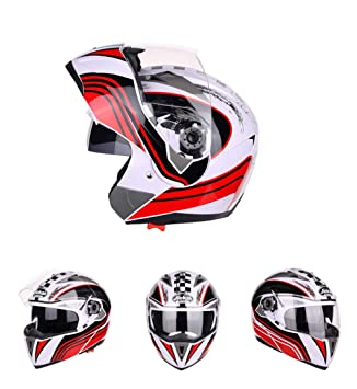 Goolife Moto Crash Modular Helmet High Safety- JIEKAI Full Face Racing Casco De Moto con Visera para Hombres Adultos Mujeres: Amazon.es: Deportes y aire ...