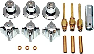 DANCO Bathtub and Shower 3-Handle Remodel/Rebuild Trim Kit for Central Brass Faucets | Knob Handle | 10L-11H, 10L-11C, 10L-13D | Chrome (39616)