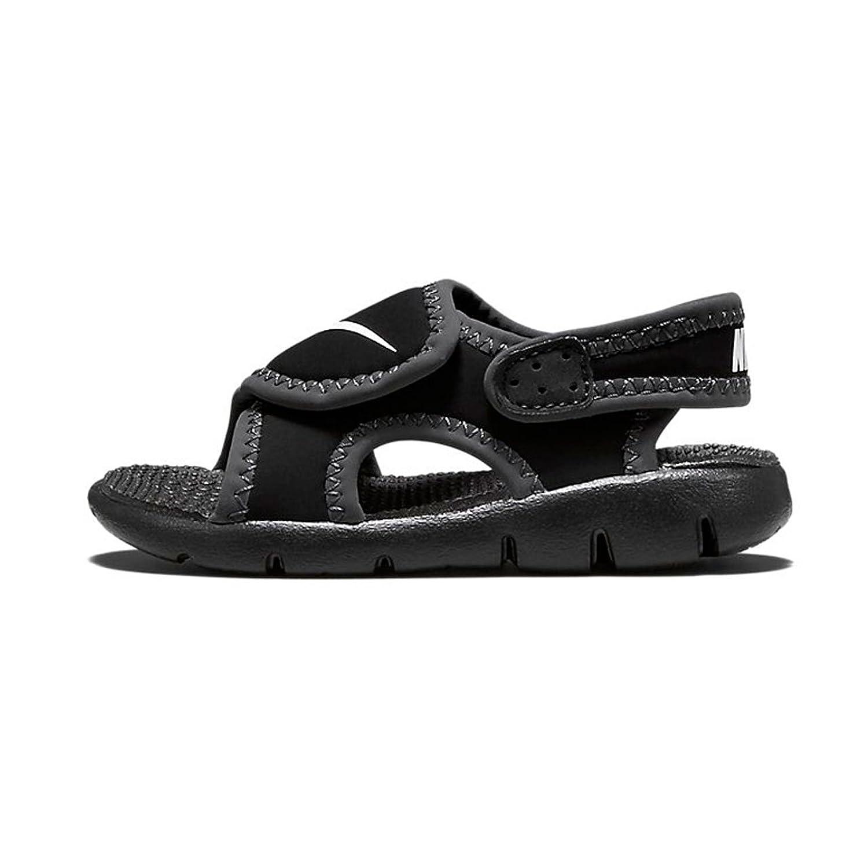 6b94ca1b0cd9 Nike Kids Unisex Sunray Adjust 4 (Infant Toddler) Black White Anthracite