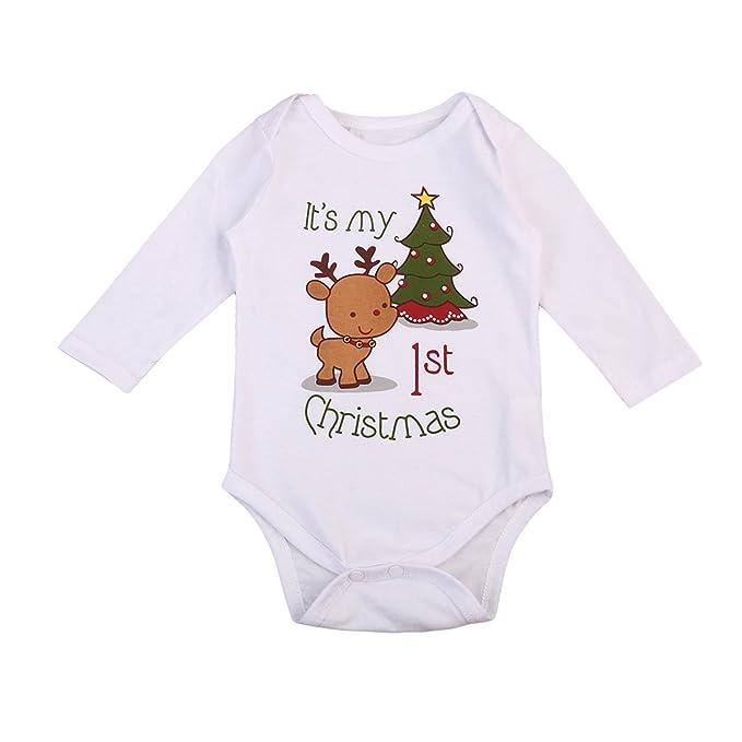 773b5f09f Amazon.com  Imcute Inflant Unisex Baby Boys Girls First Christmas ...