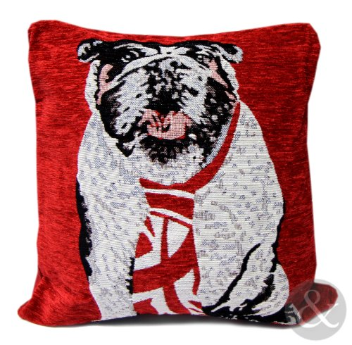 union jack bulldog pillow - 6