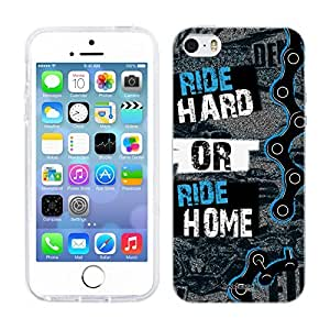 Head Case Designs Ride Hard or Ride Home Live BMX Soft Gel Back Case Cover for Apple iPhone 5 5s