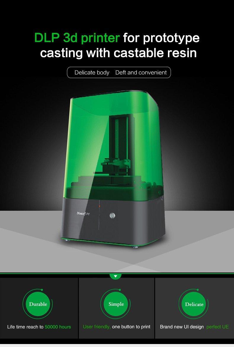Impresora 3d, JGAURORA Desktop E3 Impresoras DLP/SLA 3d alta ...