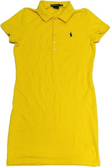 Ralph Lauren Sport Para Mujer Malla Vestido Polo Artic Amarillo Xs Clothing