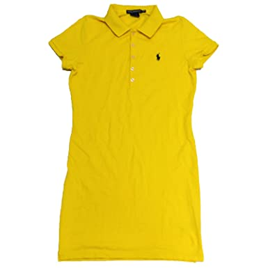 Ralph Lauren Sport Womens Mesh Polo Dress (Artic Yellow, X-Small)