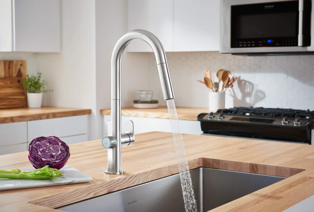 American Standard 4931360.075 Beale Measurefill Touch Kitchen Faucet, Stainless Steel by American Standard (Image #4)