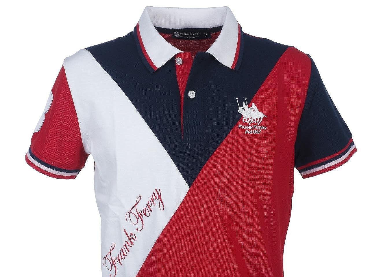 FRANK FERRY - Polo - para hombre rojo small: Amazon.es: Ropa y ...