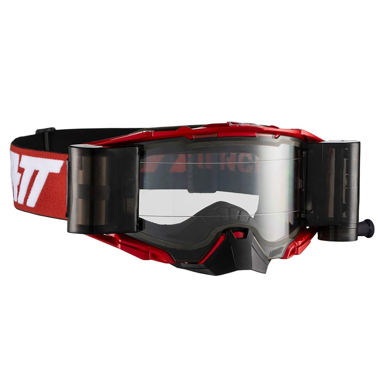 Leatt Velocity 6.5 Roll-Off Adult Off-Road Motorcycle Goggles - Red/White Clear/One Size