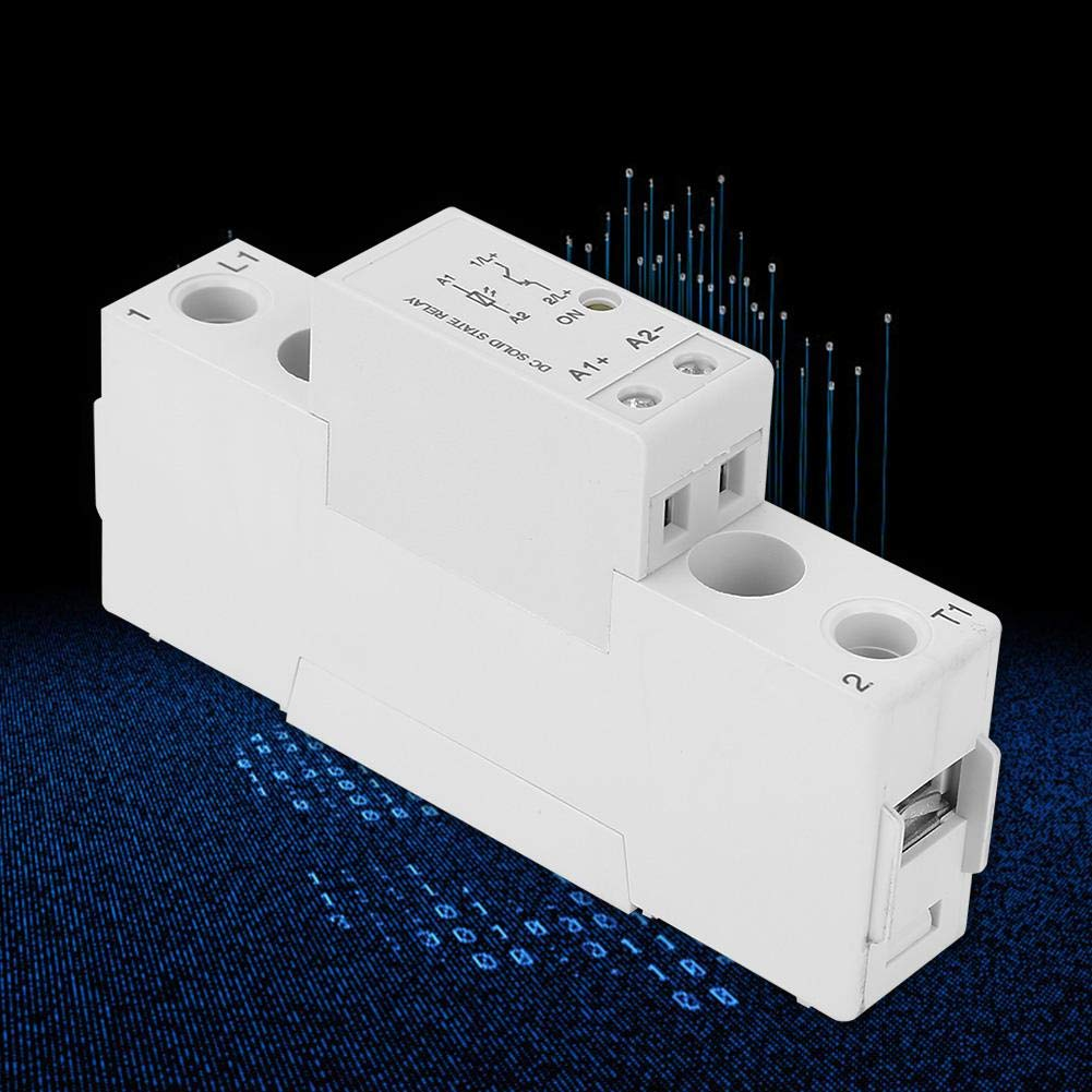 Solid State Relay,Dc 4-32VDC Control 1-60VDC Single-Phase Din-Rail Slim Solid State Relay Module,Easy and Fast Installation SMD06010