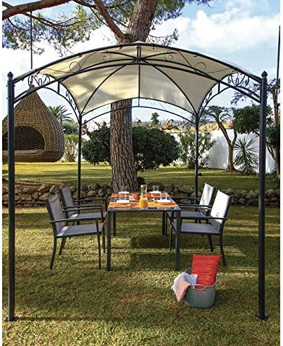 AGROFER Pérgola Acero 3x2 m. Antracita/Crudo: Amazon.es: Hogar