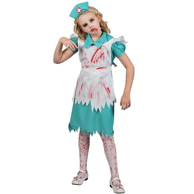Disfraz Los niños : Enfermera de Halloween del zombi. Talla L - 8 ...
