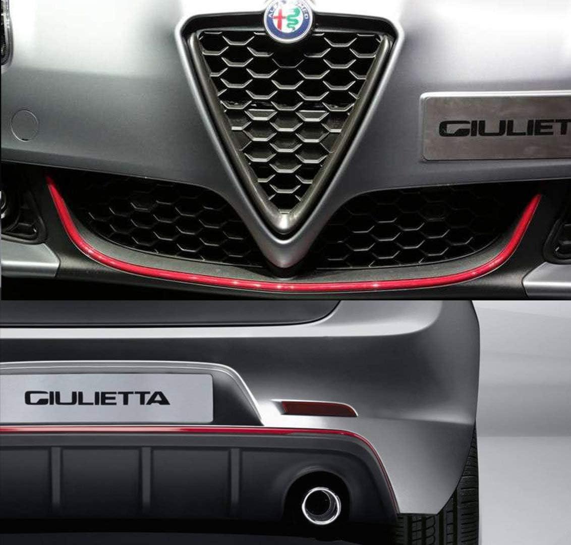 Quattroerre 19962 Profil Rot Aufkleber Für Stoßstange Full Vorne Hinten Alfa Giulietta Auto