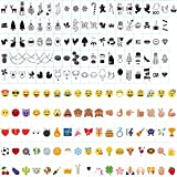 ISWEES Lights Signs Cards 96pcs Black + 85pcs Colorful Emojis Special Personalized Festival Party Decorative Symbols for A4 Size Cinematic Lightbox with A Gift Bag for Collection