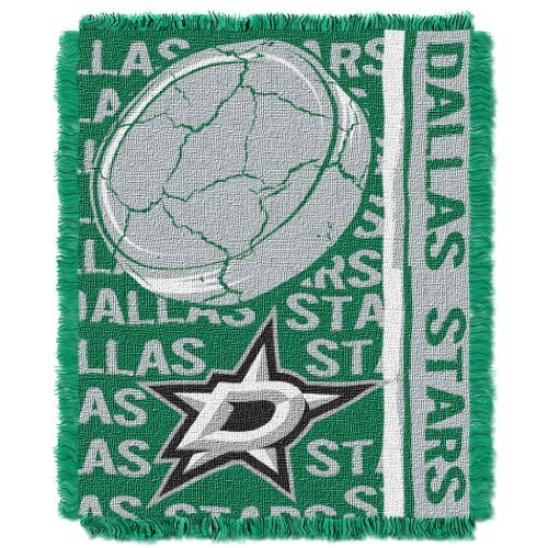 The Northwest Company Officially Licensed NHL Dallas Stars Double Play Jacquard Throw Blanket, 48