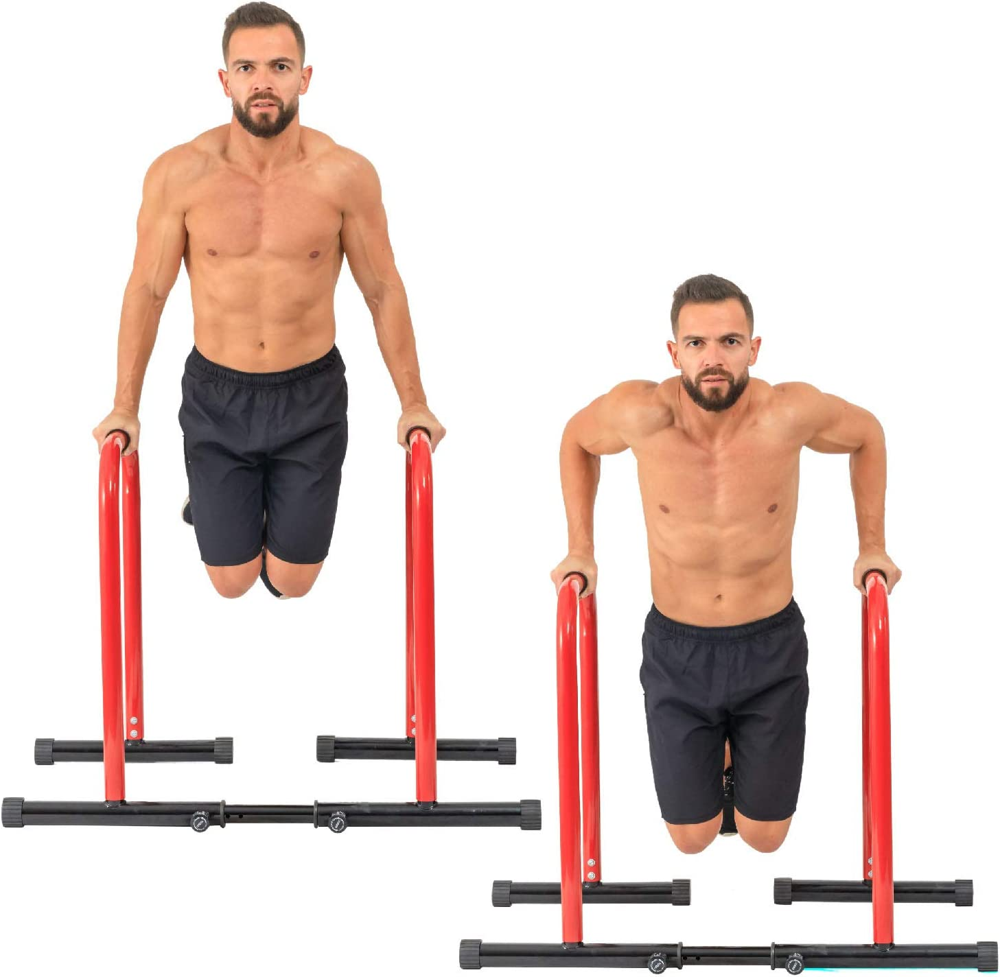 GoBeast Dip Stand with Stability Bar with Adjustable Height and Width