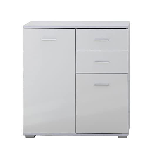 Homcom Modern High Gloss Side Cabinet Table Sideboard Chest Of Drawer  Bedroom Living Room Storage Furniture Part 67