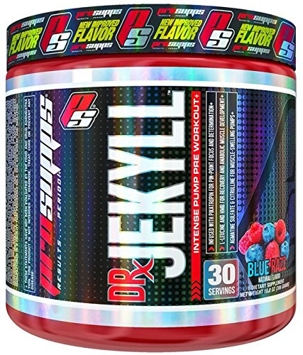 ProSupps Dr Jekyll Intense Pump Pre Workout Pikatropin Free Formula, Blue Razz, 11 Ounce (Dr Jekyll And Mr Hyde Pre Workout Stack)