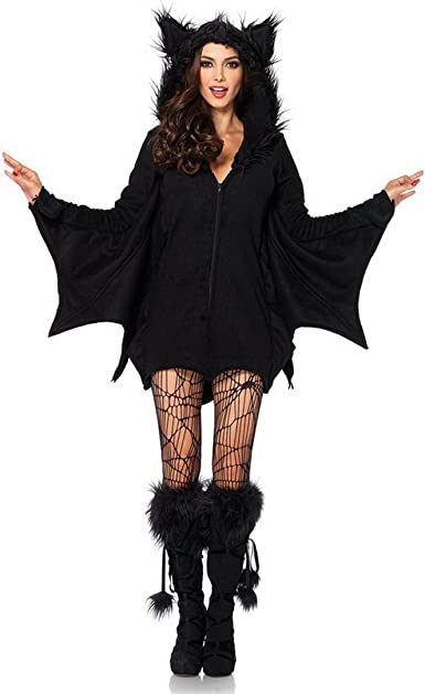 Disfraz Mujer Negro Mal vampiro Disfraz Murciélago Diablo Disfraz ...