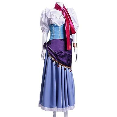 Costume Halloween Esmeralda.Amazon Com Myyh Anime Esmeralda Cosplay Dress Women Ball Gown