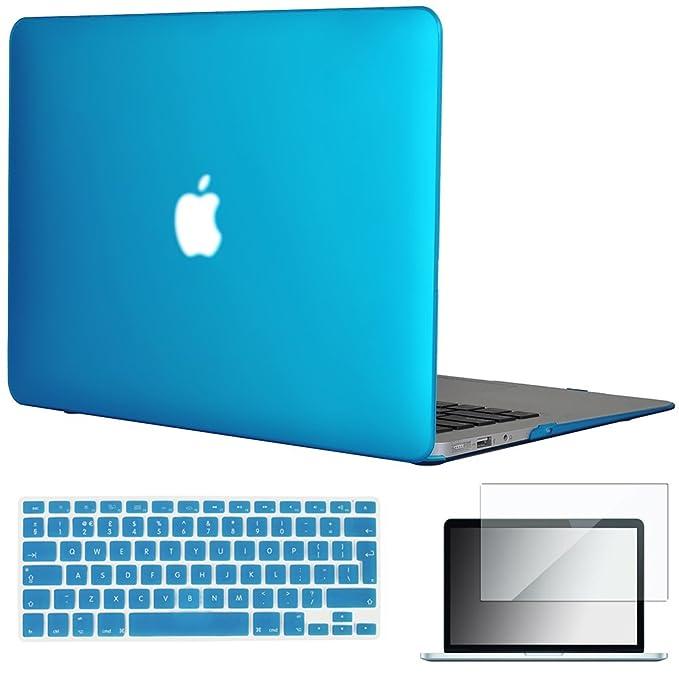 Topideal - Carcasa de goma rígida 3 en 1 para MacBook Air de 13 y 13,3 pulgadas (modelos: A1369 y A1466), mate satinado, con un suave tacto sedoso + ...