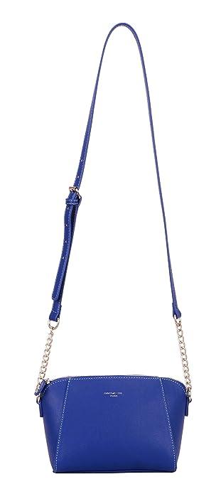 7b8deef627a7e David Jones - Petit sac à bandoulière Trapeze avec poignée de chaîne en  cuir véritable -