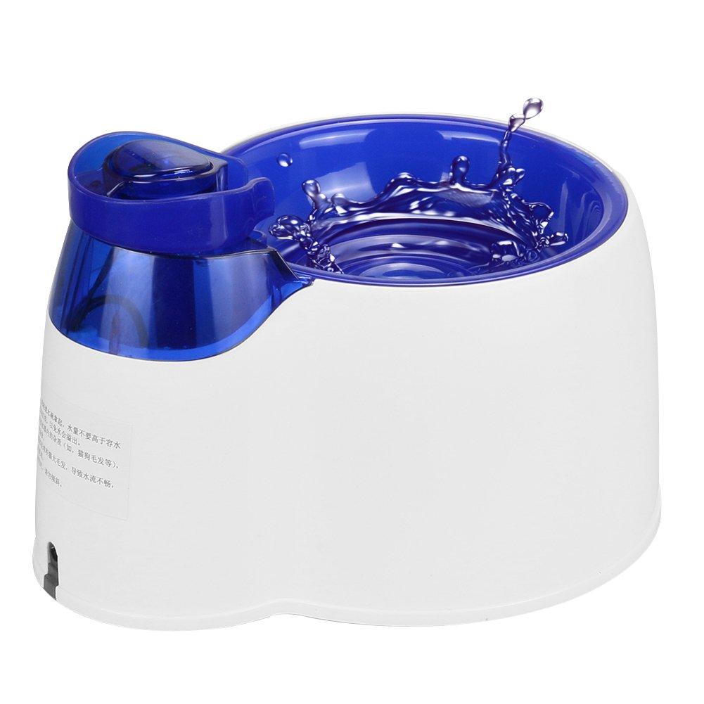 Fuente de agua automática para mascotas MW, Fuente de agua filtrada eléctrica sin BPA con luz LED, Dispensador de agua saludable e higiénica para perros y ...