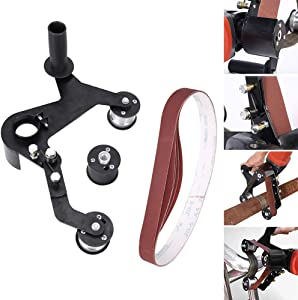 nago0 Belt Sander Attachment,Adapter Angle Grinder Bearing Sanding Support Tool Pipe Tube Bracket Accessories Aluminum Alloy Polishing Professional Accessories