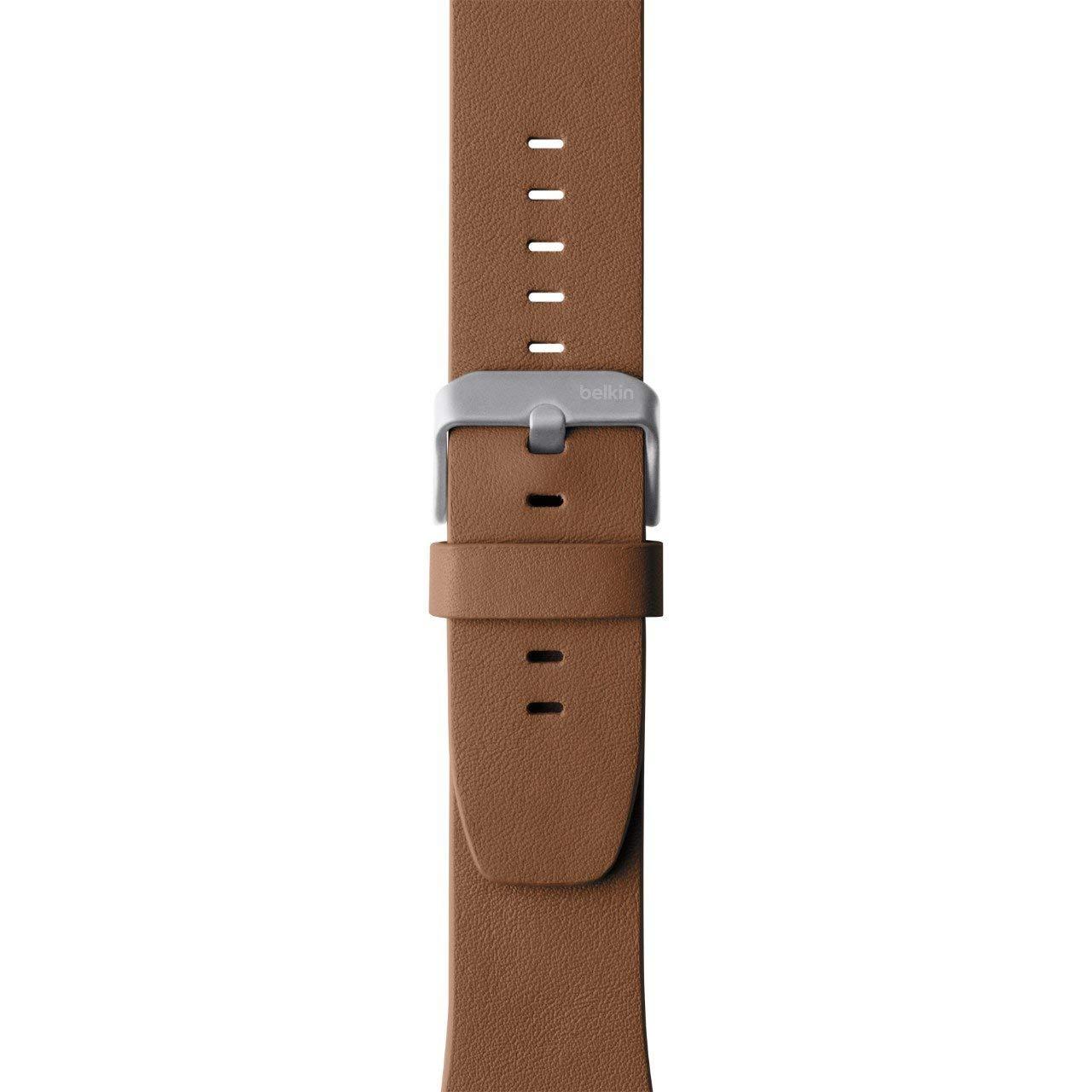 9db55bd9fc Belkin Bracelet de montre en cuir classique pour Apple Watch (42mm / 44mm):  Amazon.fr: High-tech