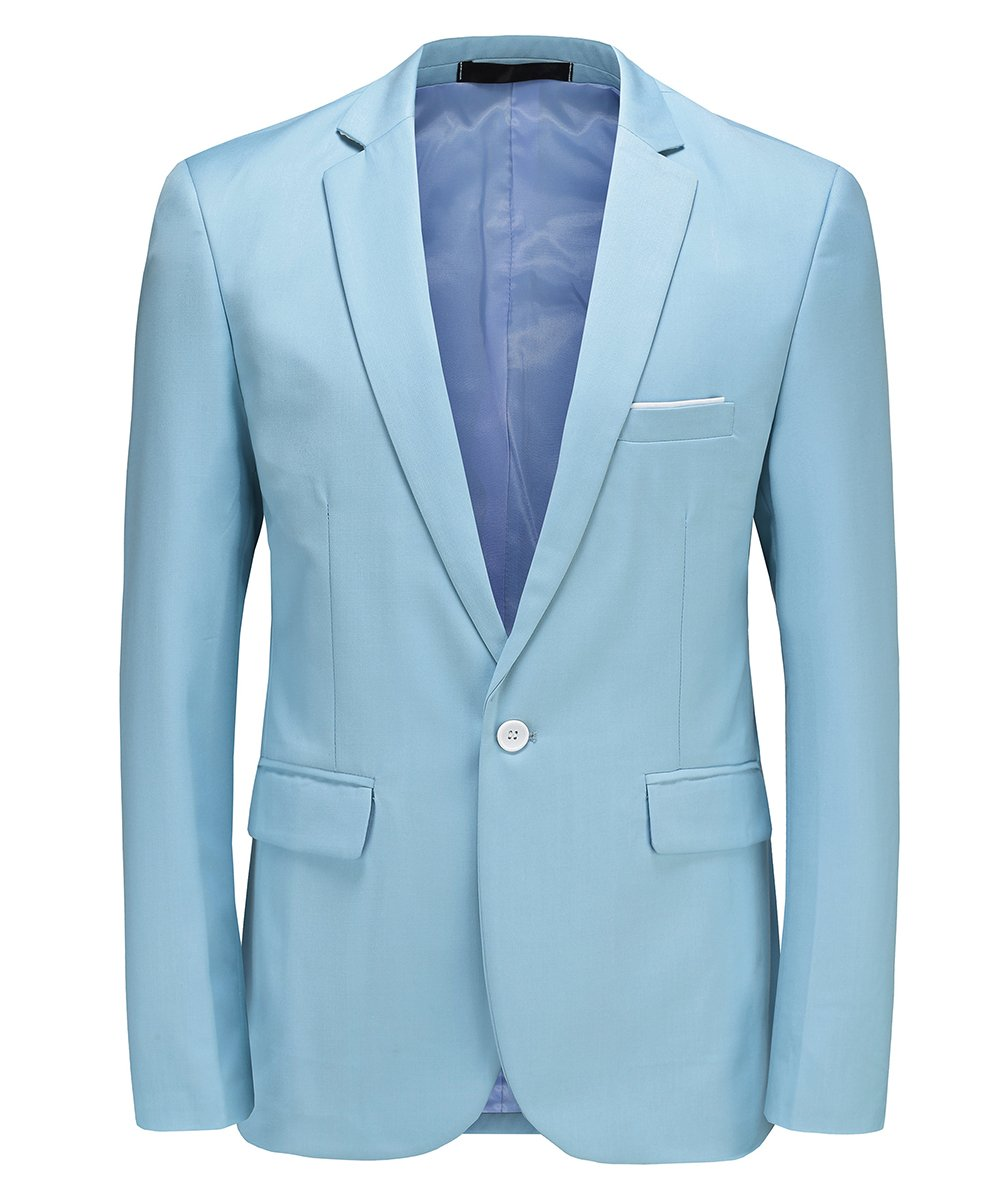 MOGU Mens One Button Casual Blazer