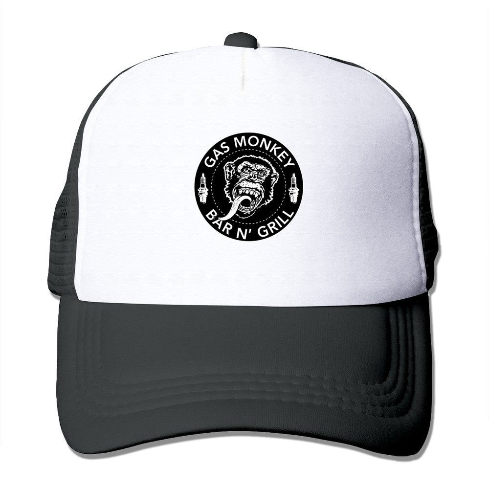 Feruch Print Adult Unisex Gas Monkey 100/% Nylon Mesh Caps One Size Fits Most Adjustable Trucker Hat Black