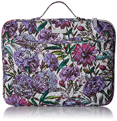 (Vera Bradley Laptop Organizer, Signature Cotton, Lavender Meadow)
