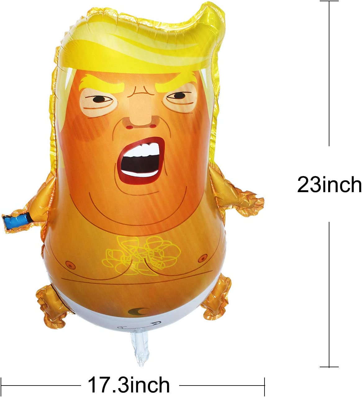 22 x 17inch Funny Trump Baby Balloon Cartoon Donald Trump Party Foil Balloon