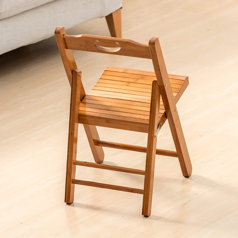 Bamboo Folding Stool Folding Chair Portable Home Simple Back Wooden Bench Suitable For Sofa Living Room Coffee Table Simple Modern Footstool